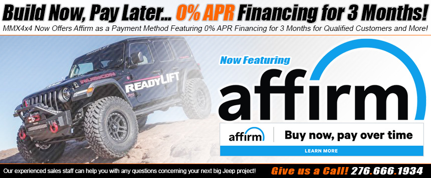 Affirm Financing Now Offered by MMX4x4.com!
