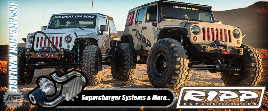 RIPP Supercharger Systems and Jeep Performance MODS