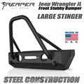 Jeep Wrangler JL Steel Front Bumper - Stubby With Stinger by Reaper Off Road