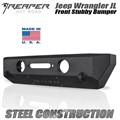 Jeep Wrangler JL Steel Front Bumper - Stubby by Reaper Off Road