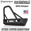 Jeep Gladiator JT Steel Front Bumper - Stubby With Stinger by Reaper Off Road