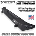 Jeep Wrangler JL Steel Rear Bumper With Fog Light Provisions by Reaper Off Road