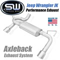 2007-2018 Jeep Wrangler JK Axleback Exhaust System by Stainless Works