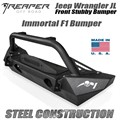 Jeep Wrangler JL Steel Front Bumper - Immortal F1 Stubby With Bull Bar by Reaper Off Road