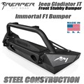 Jeep Gladiator JT Steel Front Bumper - Immortal F1 Stubby With Bull Bar by Reaper Off Road