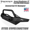 Jeep Gladiator JT Steel Front Bumper - Immortal F2 Mid-Width With Bull Bar by Reaper Off Road