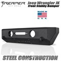 Jeep Wrangler JK Steel Front Bumper - Stubby by Reaper Off Road