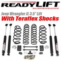 "Jeep Wrangler JL 3.5"" Lift Kit With Teraflex 9550 Shocks by ReadyLift"