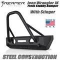 Jeep Wrangler JK Steel Front Bumper - Stubby With Stinger by Reaper Off Road