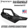 2013-2018 Jeep Wrangler JK Steel Front Bumper - Immortal F2 Mid-Width With Bull Bar by Reaper Off Road