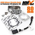 2012-2018 Jeep Wrangler JK HEMI 80mm Throttle Body and Adapter to Pentastar V6 Intake Manifold Kit by MMX4x4