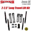 "Jeep Wrangler JK 2-Door 4WD 2-2.5"" Dual Rate Long Travel Lift Kit with Black MAX Shocks by SkyJacker"