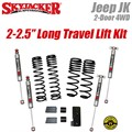 "Jeep Wrangler JK 2-Door 4WD 2-2.5"" Dual Rate Long Travel Lift Kit with M95 Shocks by SkyJacker"