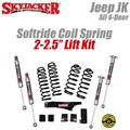 "Jeep Wrangler JK 4-Door 2-2.5"" Softride Coil Spring Lift Kit with M95 Shocks by SkyJacker"