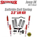 "Jeep Wrangler JK 2-Door 3.5"" Softride Coil Spring Lift Kit with Hydro Shocks by SkyJacker"