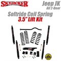 "Jeep Wrangler JK 2-Door 3.5"" Softride Coil Spring Lift Kit with Black MAX Shocks by SkyJacker"