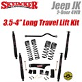 "Jeep Wrangler JK 2-Door 4WD 3.5-4"" Dual Rate Long Travel Lift Kit with Black MAX Shocks by SkyJacker"