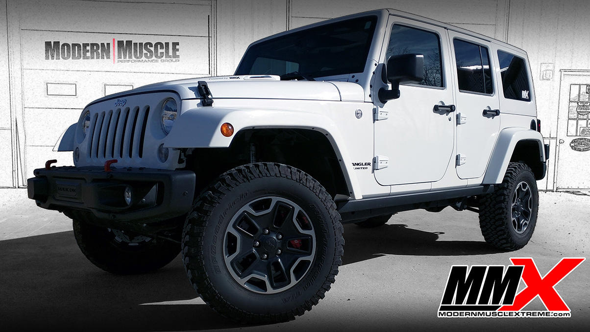 2015 Jeep Wrangler JK 6.4L Big Gas HEMI Build and Edelbrock Supercharged by MMX4x4 / Modern Muscle Xtreme